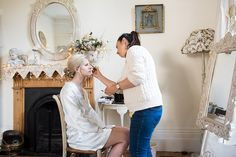 Pre-wedding morning bridal make over by Ana Ospina. Wedding Morning, Our Lady Of Sorrows, Park Weddings, Wedding Hair And Makeup, Bridal Make Up, Surrey, Beautiful Bride, Makeup Ideas, Wedding Hairstyles