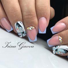 nail shapes lipstick Make Up Manicure Nail Designs, Clear Nail Designs, Colorful Nail Designs, Nail Manicure, Nail Art Designs, Bling Nails, Diy Nails, Cute Nails, Gel Nails Shape