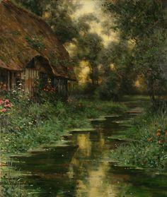 Diane's Cottage at Sunset - Louis Aston Knight (1873–1948)