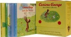 curious george books.....vintage style, we have one book that is a collection of books (George and the Toy Store etc.) But always love some more!