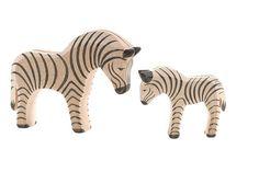 Ostheimer wooden zebras from Honeybee Toys