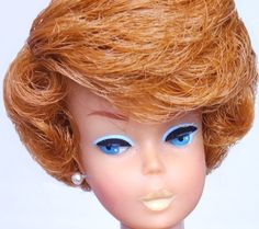 Stunning! Vintage Redhead Titian Side Part Bubble Cut Barbie Doll Mint! *1DAY*