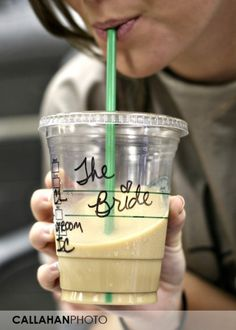 Somebody better get me Starbucks on my wedding day!  That means you, @Bridget Hanlon! :)