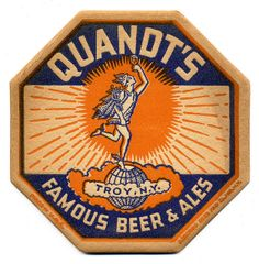 Badge Design, Label Design, Packaging Design, Retro Design, Vintage Designs, Sous Bock, American Beer, Beer Mats, Matchbox Art