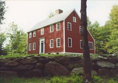 Saltbox roof:  A saltbox house is two storie high in the front and has a low sloping roofline in the back of the house.