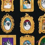 Timeless Treasures Cat Portraits Black [TT-C1770-Black] - $10.45 : Pink Chalk Fabrics is your online source for modern quilting cottons and sewing patterns., Cloth, Pattern + Tool for Modern Sewists