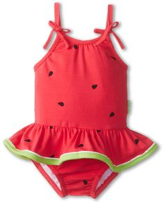 Le Top Watermelon Cutie Skirted Swimsuit (Watermelon Pink) Girl's Jumpsuit & Rompers One Piece on shopstyle.com