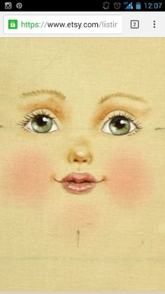 Discover thousands of images about Photo Doll Crafts, Diy Doll, Fabric Dolls, Paper Dolls, Doll Face Paint, Doll Eyes, Sewing Dolls, Doll Tutorial, Doll Repaint