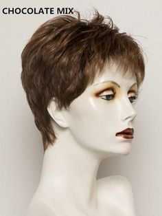 Cute short haircuts for women. Great Tips And Techniques To Really Make The Most Of Your Hair Short Wigs, Short Pixie, Synthetic Lace Front Wigs, Synthetic Wigs, Natural Hair Growth, Natural Hair Styles, Tapered Haircut For Women, Blonde Roots, Dark Roots
