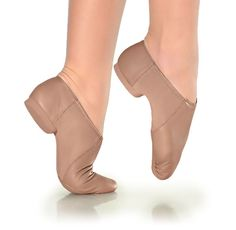 The So Danca Suede Sole Jazz Shoe Pre Arch medium fit jazz boot from So Danca's collection of classic dance shoes. Low jazz boots with split soles, the ball of the foot is suede and the heel is rubber