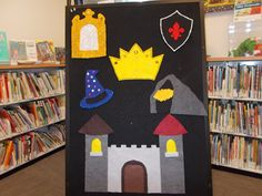 Where's the king's crown? Hide under mirror, shield, hat and cave. Fun with Friends at Storytime: Crown me! Felt Board Stories, Felt Stories, Fractured Fairy Tales, Fairy Tale Theme, Felt Kids, Reading Themes, Flannel Friday, Finger Plays, Clip Art
