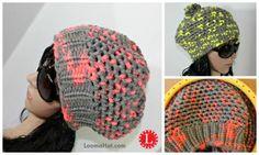 Gorro Punto Mock Crochet en Telar Redondo Circular de 41 postes