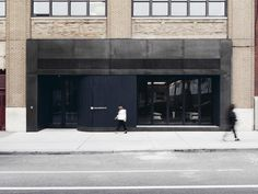 Even the entrance to the building has been redesigned for Squarespace.