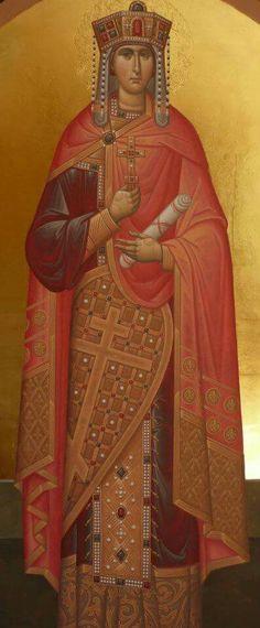 Byzantine Icons, Byzantine Art, Religious Icons, Religious Art, Saint Catherine Of Alexandria, Saint Katherine, Paint Icon, Pictures To Draw, Art Pictures