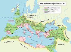 Roman Empire (117 AD) - Vivid Maps