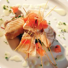 A fresh and tastful dish created by Chef Gaetano Ascione at The Biltmore Hotel in Coral Gables.
