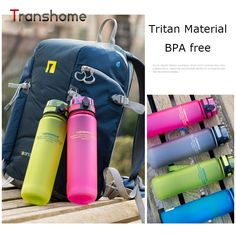 Uzspace Tritan Water Bottle BPA Free Plastic Cup For Sports Outdoor Camping 500 ML Creative Portable Drinkfles Transhome #clothing,#shoes,#jewelry,#women,#men,#hats,#watches,#belts,#fashion,#style