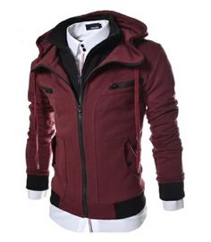 t shirts amazon  Clothing & Accessories › Men › Shirts  TheLees Men's Slim Fit Hood Cotton Jacket