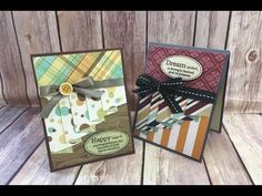How to make the Curtain / Drapery Fold Technique Card featuring Stampin Up Botanical Buidlers Bundle - YouTube