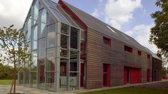 Sliding house -  designed by London-based practice de Rijke Marsh Morgan - a self-build house concept - The outcome was three buildings arranged along a longitudinal axis...