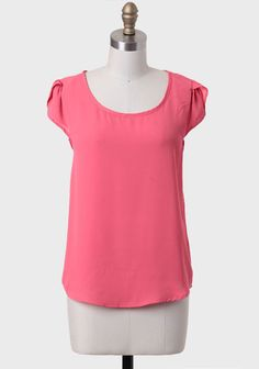 Audition Button-back Blouse In Coral at #Ruche @Ruche