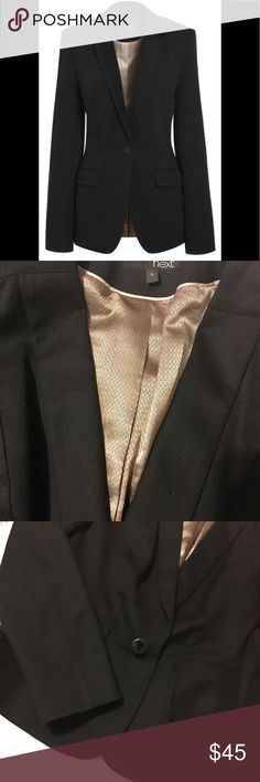 Next black blazer Black blazer with one bottom Next Level Apparel Jackets & Coats Blazers