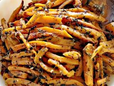 Garlic-Italian Sweet Potato Fries | Can't Stay Out Of The KitchenCan't Stay Out Of The Kitchen