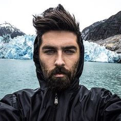On a hot summer day like this, it helps to keep cool by looking at a picture like this of @chrisjohnmillington and his #beard hanging out in #Alaska. • • #beards #beardbrand #style #community #adventure #travel #style #lifestyle #grooming