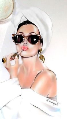 – – # Frisuren - Makeup Tips Highlighting Girly Drawings, Art Drawings, Art Sketches, Art Beauté, Makeup Wallpapers, Fashion Wall Art, Red Aesthetic, Beauty Art, Beauty Makeup