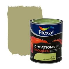 Flexa Creations lak hoogglans olive tree 750 ml | Flexa creations | Kleurconcepten | Verf & verfbenodigdheden | KARWEI