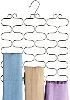 Amazon.com : scarf organizer Belt Rack, Tie Rack, Scarf Belt, Loop Scarf, Maximize Closet Space, Wooden Tie, Tie Hanger, Scarf Organization, Closet Accessories