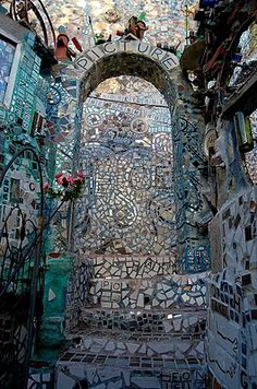 Philadephia's Magic Gardens on South Street is a great place to see if you are a tourist visiting Philly or someone who walks past it everyday.