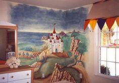 Castle Wall Murals Bedroom Decor