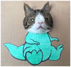 Dino Monty ! Jurassic Park on Yummypets.com #cute #cat #animal #pet #jurassic #lol #funny