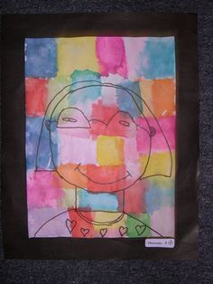 This lesson came from Teach Kids Art. A wonderful site for getting art lessons. The kids use tissue paper to transfer the color. You have t...
