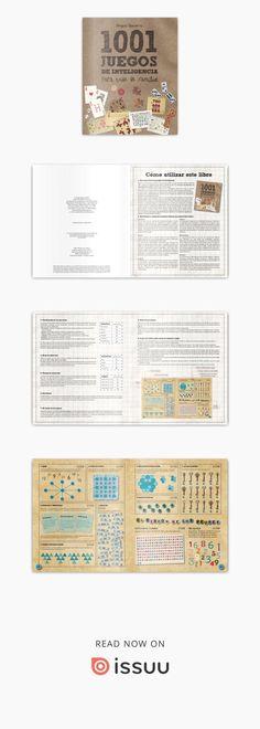 """1001 juegos de inteligencia para toda la familia (primeras paginas)  Mejorar el rendimiento cerebral no es tan solo posible, sino que también puede ser divertido. """"1001 juegos de inteligencia para toda la familia"""" contiene entretenidos ejercicios de memoria, crucigramas, problemas matemáticos, juegos de letras y acertijos que ayudarán a potenciar las capacidades del cerebro tanto de los mayores de la familia como de los más pequeños. Tan Solo, Bullet Journal Inspiration, Tinkerbell, Fun Games, Mind Games, Crossword Puzzles, Math Word Problems"""