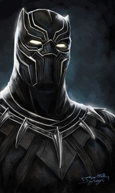 Black Panther by  JIA YI SU. - Living life one comic book at a time.