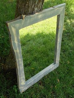 Spruce Rustic Framed Distressed Slate Mirror by AlongtheRidge #rusticmirror #wallmirror #mirror #cabinmirror #cottagemirror #resortmirror #liveedge #naturaledge
