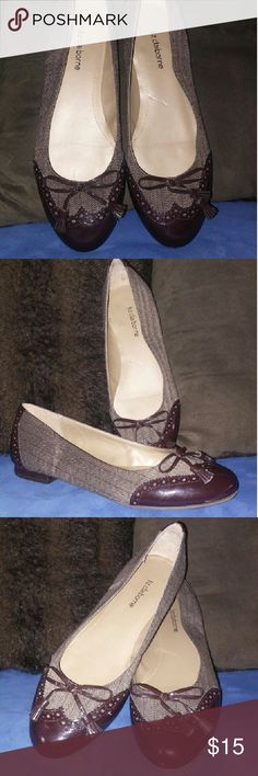 Used women's flats Patent leather and tweed flats with tassels Liz Claiborne Shoes Flats & Loafers
