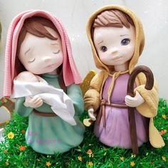 Diy Christmas Gifts, Christmas Decorations, Christmas Ornaments, Jesus Mary And Joseph, Cold Porcelain, Clay Creations, Clay Art, Decor Crafts, Cake Toppers