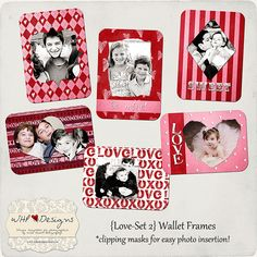 FREE wallet templates for Valentine's Day!!! Use code LOVEU at checkout :]