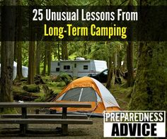 If you ever need to live in a tent or RV for a long period of time, these will come in handy. #PreparednessAdvice