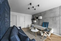 Algirdo St Apartment is a modern and cozy flat designed by the Lithuanian studio Rimartus Design. The apartment is located in Vilnius. Design Studio, Flat Design, Modern, Conference Room, Cozy, Interior, Table, Furniture, Home Decor