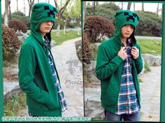 Fans-Art Minecraft Creeper Plush Mortarboard Sweater Hoodie Fleeces Clothes   eBay