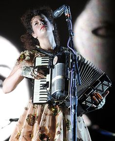 Regine Chassagne of Indie Group Arcade Fire. Austin City Limits, Arcade Fire, Inspiring People, Music Love, Girl Crushes, Pretty Pictures, Art Direction, Pretty Woman, Rock And Roll