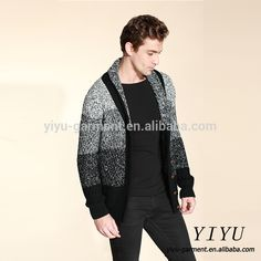 New arrival thick V neck acrylic fancy mens cardigan sweater with button