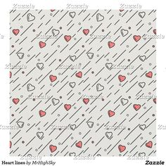 Heart lines fabric