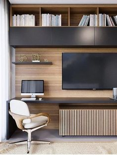 Office Interior Design, Office Interiors, Interior Design Inspiration, Design Ideas, Office Designs, Home Office Setup, Home Office Space, Office Ideas, Office Tv