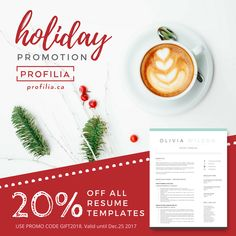 Holiday discount on all resume templates. Reinvent yourself for 2018! #resume #resumetips #resumedesign #resumewriting #resumes #cv #job #jobs #discount #deal #creativeresume #hotdeal #standout