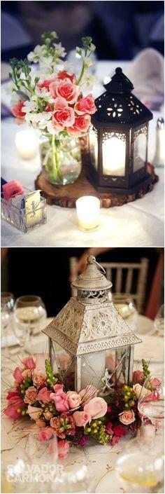 Rustic vintage lantern wedding centerpiece decor ideas / #weddingideas #weddings #centerpiece